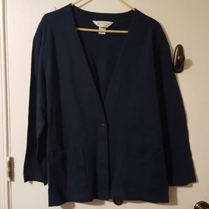 Lands End cotton Jersey sweater